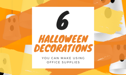 6 Halloween Decorations You Can Make Using Office Supplies