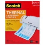 Scotch Letter Size Thermal Laminating Pouches – 3 mil – 11 1/2″ x 9″