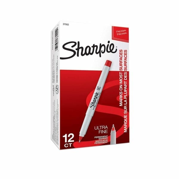 Red Sharpie Permanent Markers - 37002