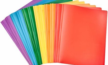 Heavy Duty Plastic Folders with Pockets for 8.5″x11″ Paper, Pack of 12