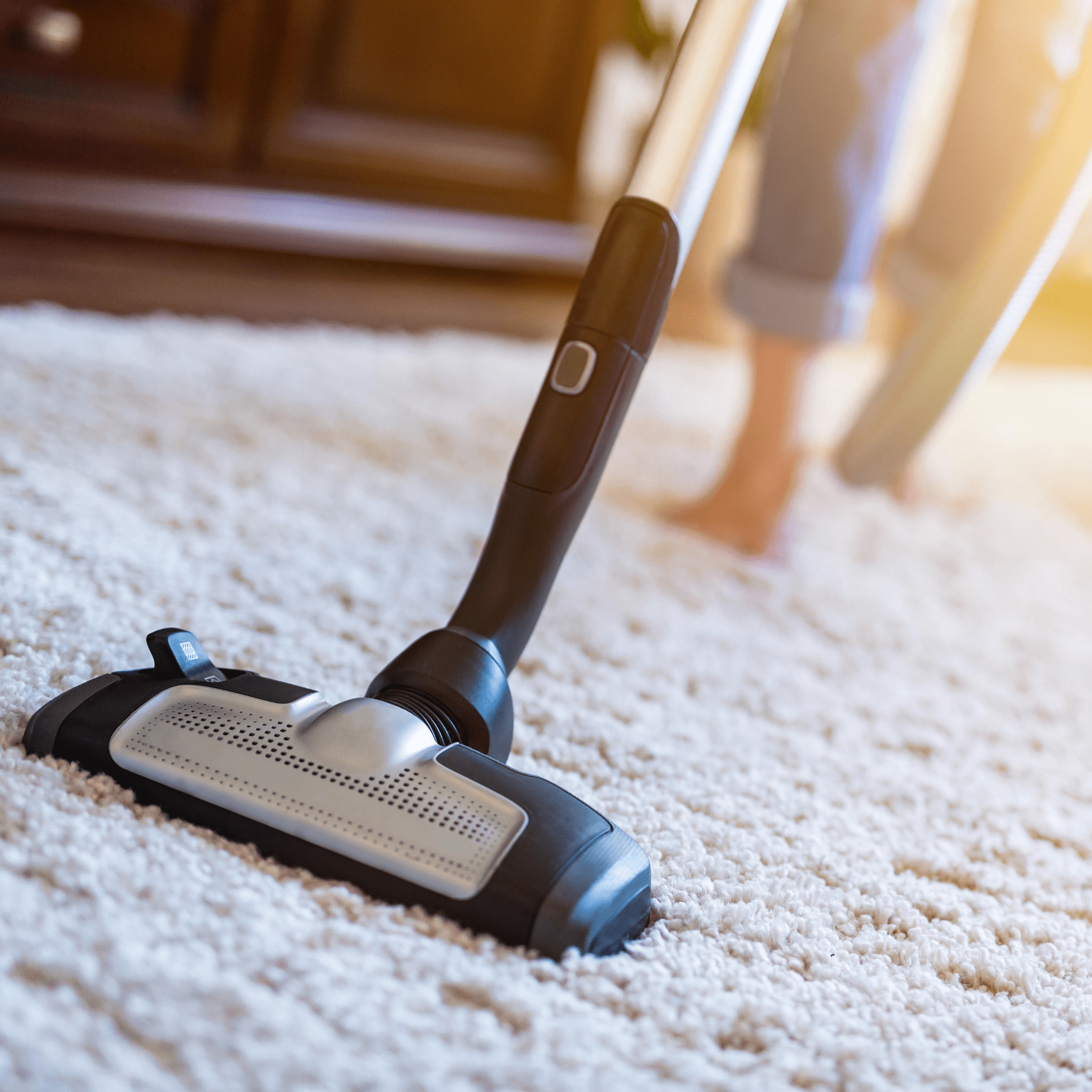 Keep surfaces and carpets clean to improve indoor air quality in home office