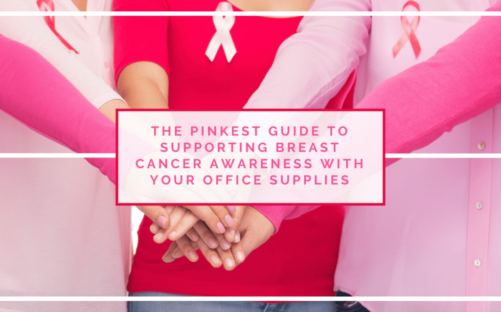 October Is Breast Cancer Awareness Month - Support this cause with Pink BCA Office Supplies